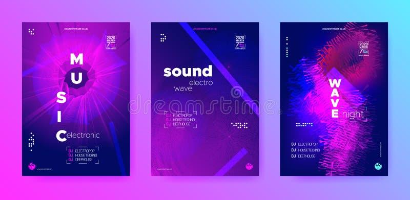 Cyan Flow Music. Flyer Dj. Purple Electronic. Music. Neon Beats. Violet Dj Party. Neon Beats. Light Electronic Music stock illustration