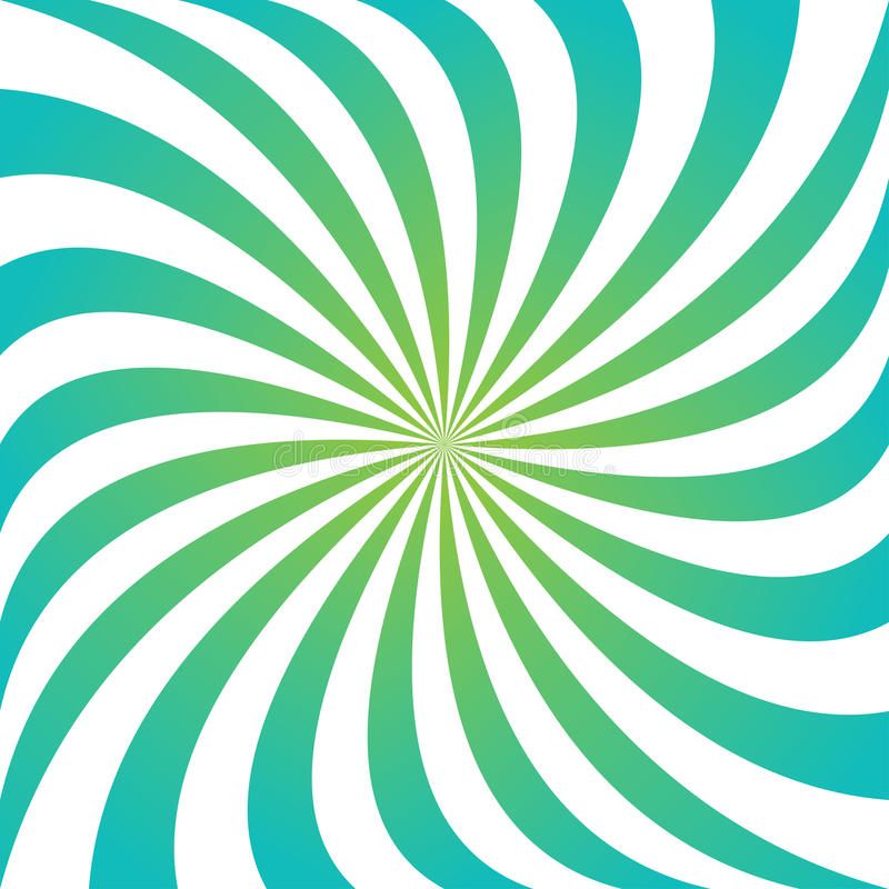 Cyan i zielony wiruje promienia vortex tło ilustracja wektor