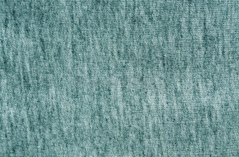 Cyan knitting cloth texture. stock photo