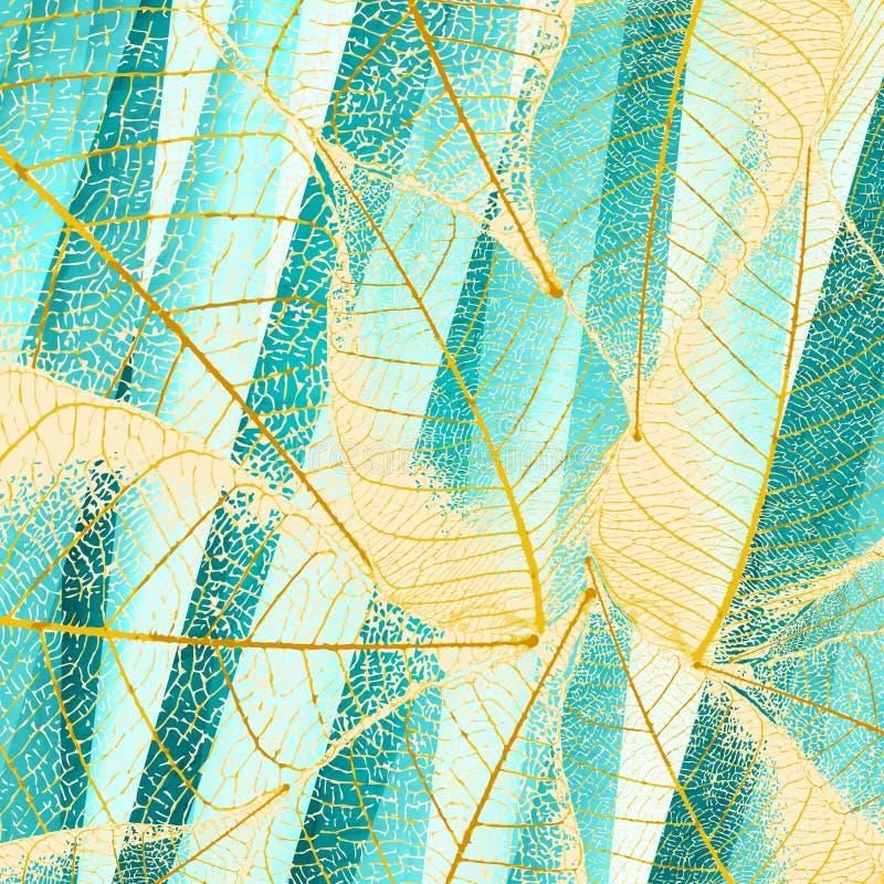 Cyan leafs vector illustration