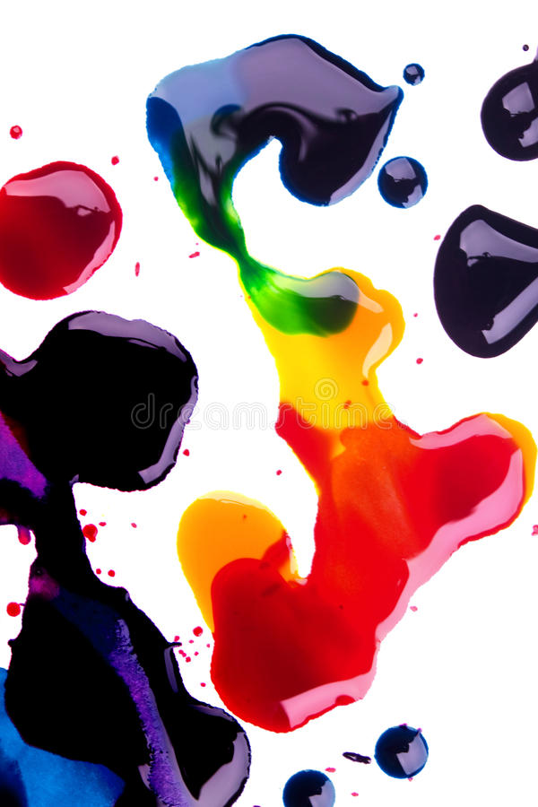 Download Cyan Magenta Yellow And Black Colors On White Back Stock Photo - Image: 10956650