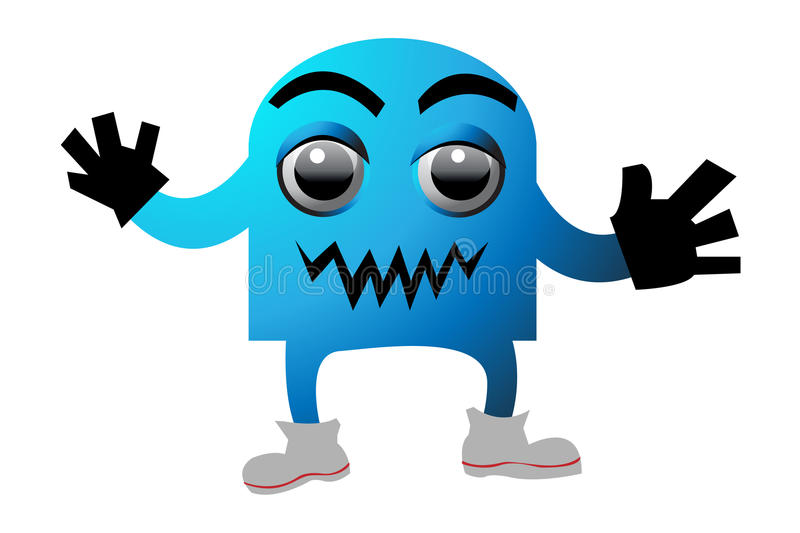 Download Cyan monster stock vector. Image of cheerful, creature - 9689014