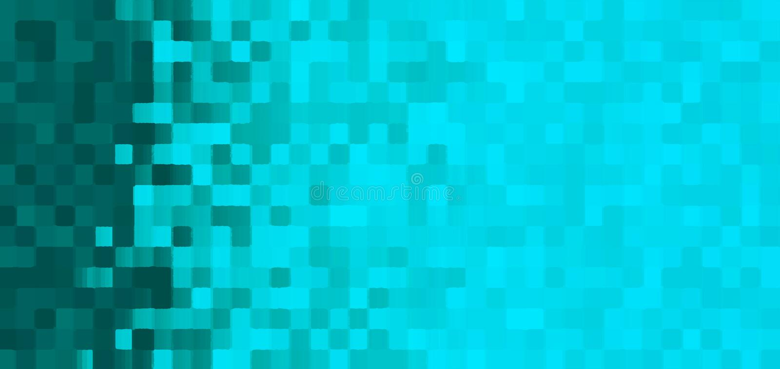 Cyan mosaic background with gradient royalty free illustration