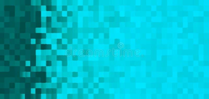 Cyan mozaiki tło z gradientem royalty ilustracja