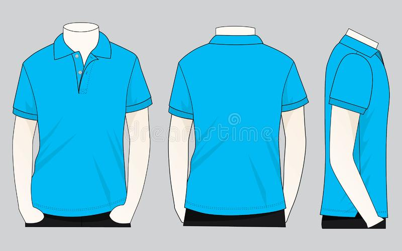 Cyan T Shirt Vector For Template Stock Illustration