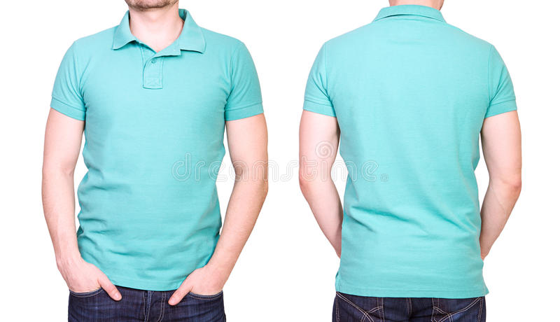 Men S Blank White Polo Shirt Template Stock Image Image Of