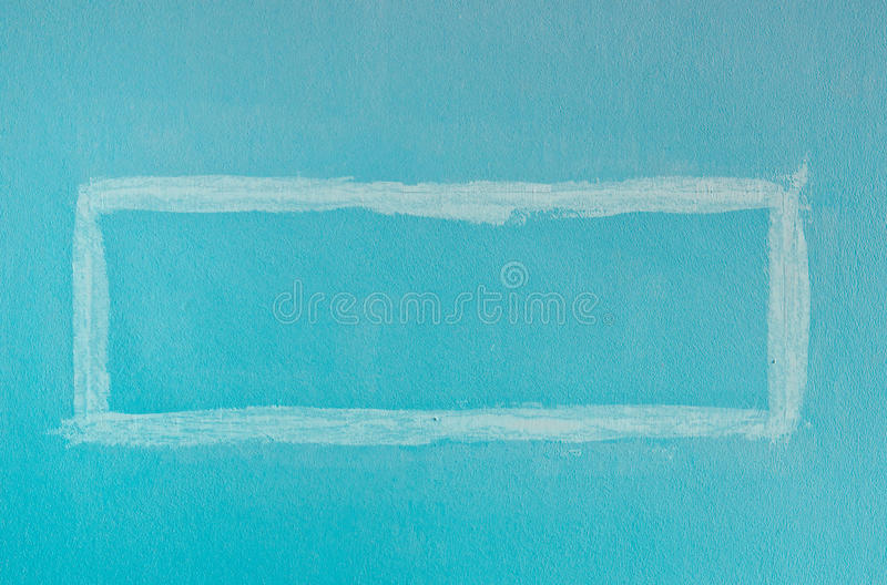 Cyan Square Paint Wall stock photos