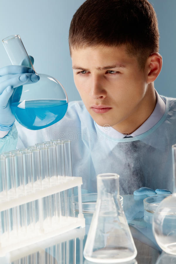 Download Cyan substance stock photo. Image of people, chemist - 26278866