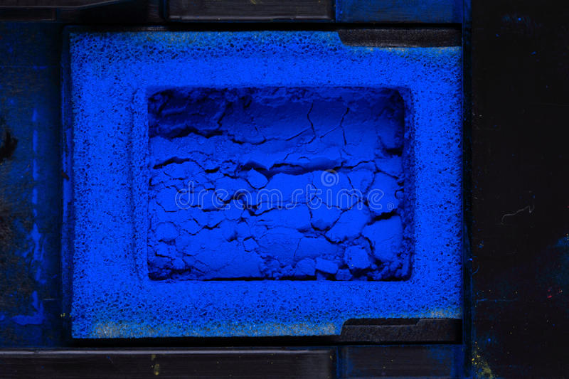 Cyan toner powder. As nice technological background royalty free stock images