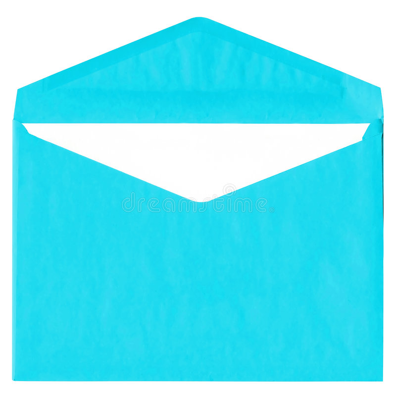 Download Cyan Vintage Envelope Isolated On White Stock Image - Image: 9186235