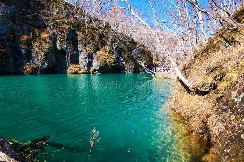 Cyan woda Changbai g obrazy stock