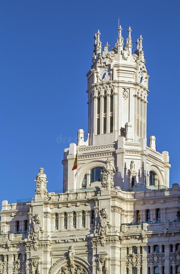 Cybele pałac, Madryt obraz royalty free