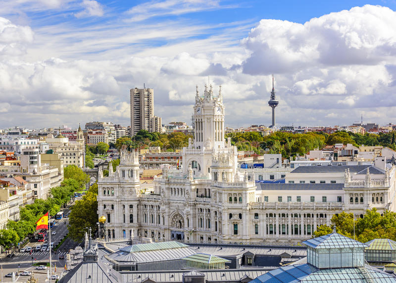 Download Cybele Plaza of Madrid stock image. Image of building - 47004533