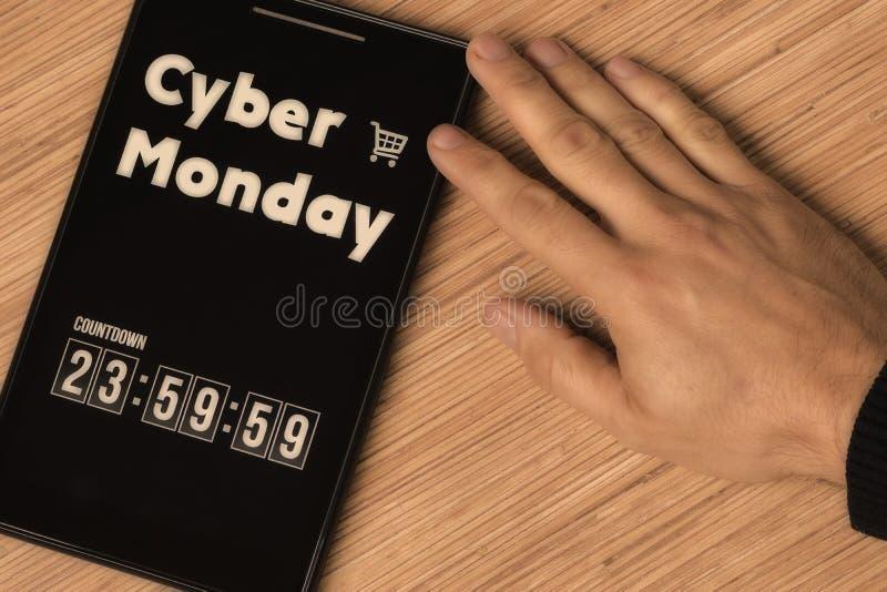 Cyber星期一 免版税库存照片
