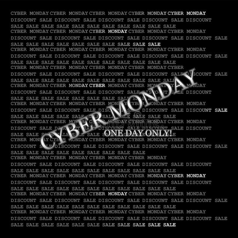 Cyber星期一 一天!矩阵样式 库存例证