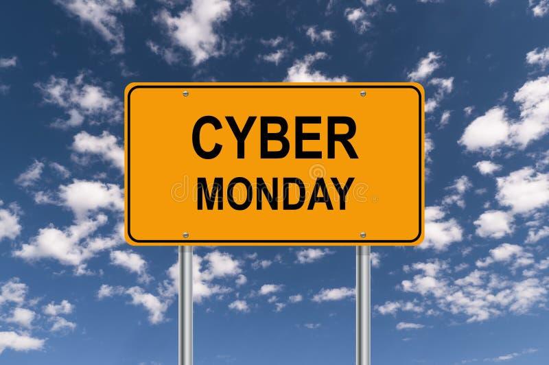 Cyber星期一 库存例证