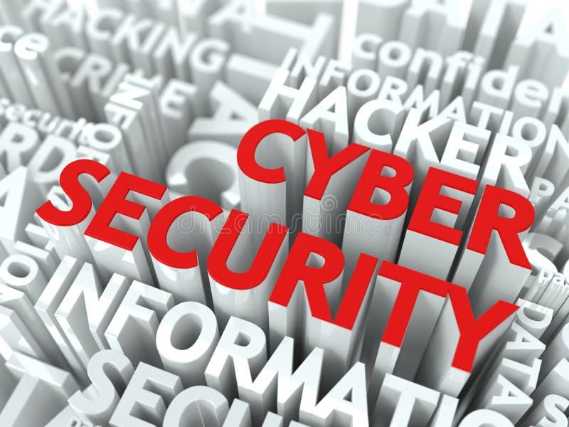 Cyber证券概念。 向量例证