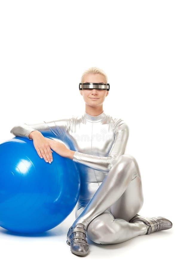 cyber ćwiczenia sprawności fizycznej relaksująca kobieta obrazy royalty free