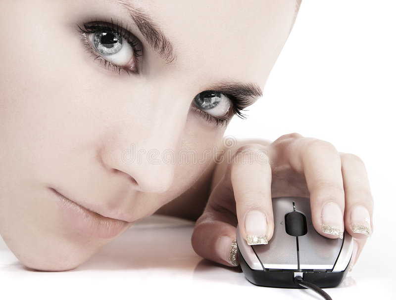 cyber κορίτσι στοκ εικόνα με δικαίωμα ελεύθερης χρήσης