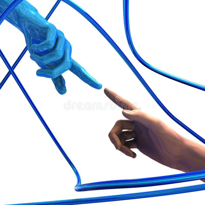 cyber соединения 3d цифровой иллюстрация штока