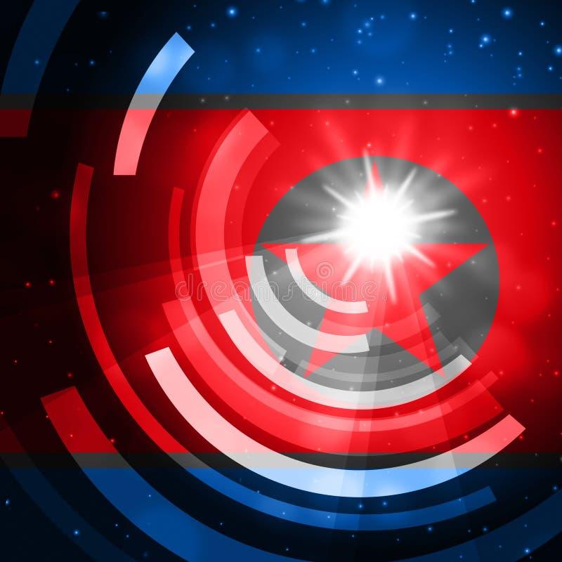 Cyber-Angriffs-Drohung durch Illustration Nordkorea-Hacker-3d lizenzfreie abbildung