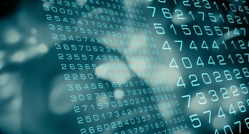 Cyber atak używać nowego wirusowego algorytm, przyszłościowej technologii neural sieć royalty ilustracja