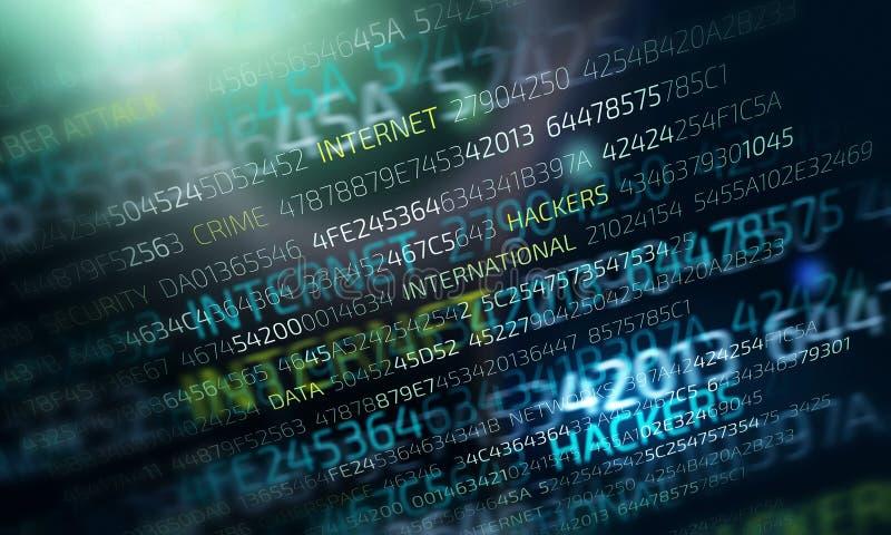 Cyber attack concept vector illustration