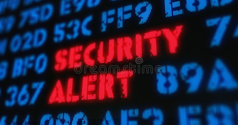 Cyber attack - security alert stock photo