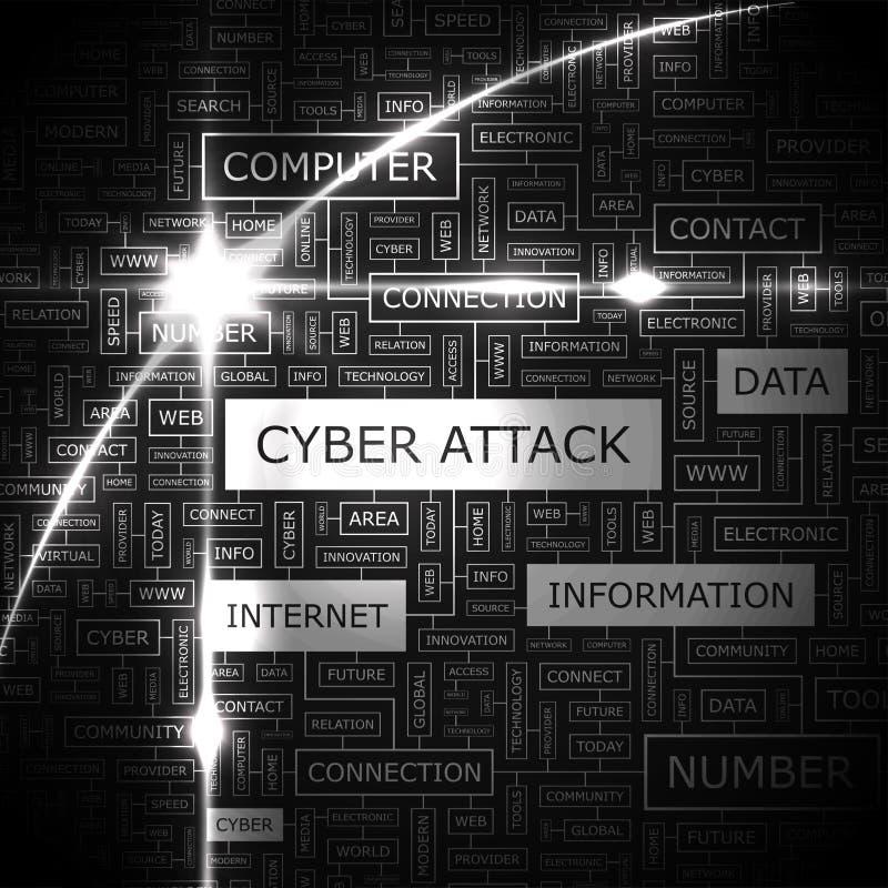 CYBER ATTACK vector illustration