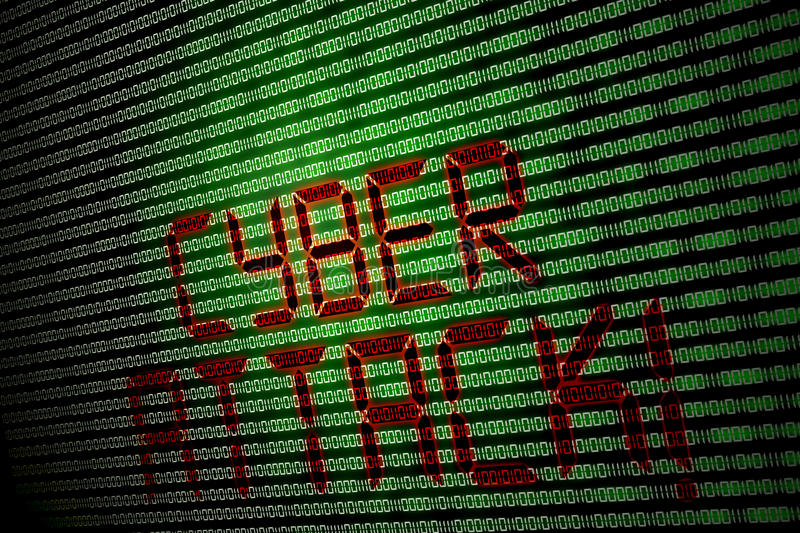 Cyber attack royalty free stock photo