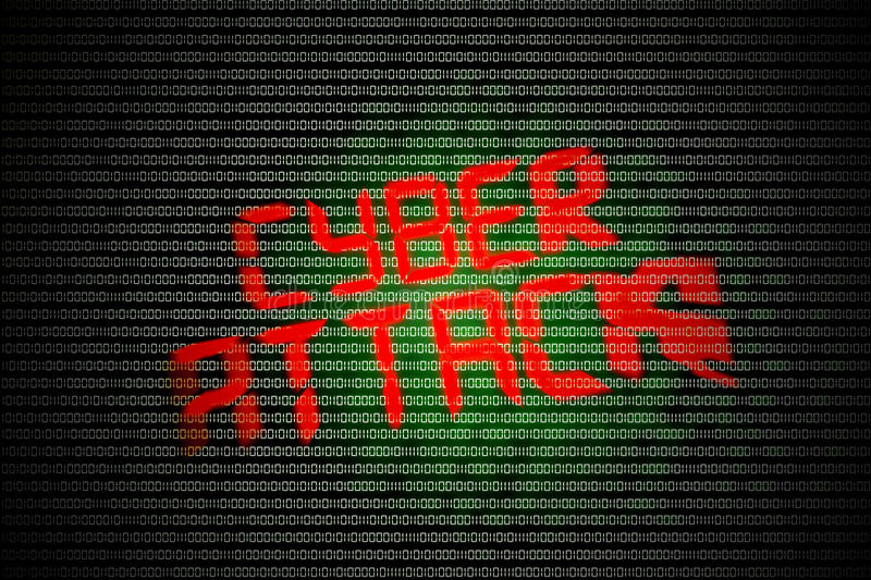 Cyber attack royalty free illustration