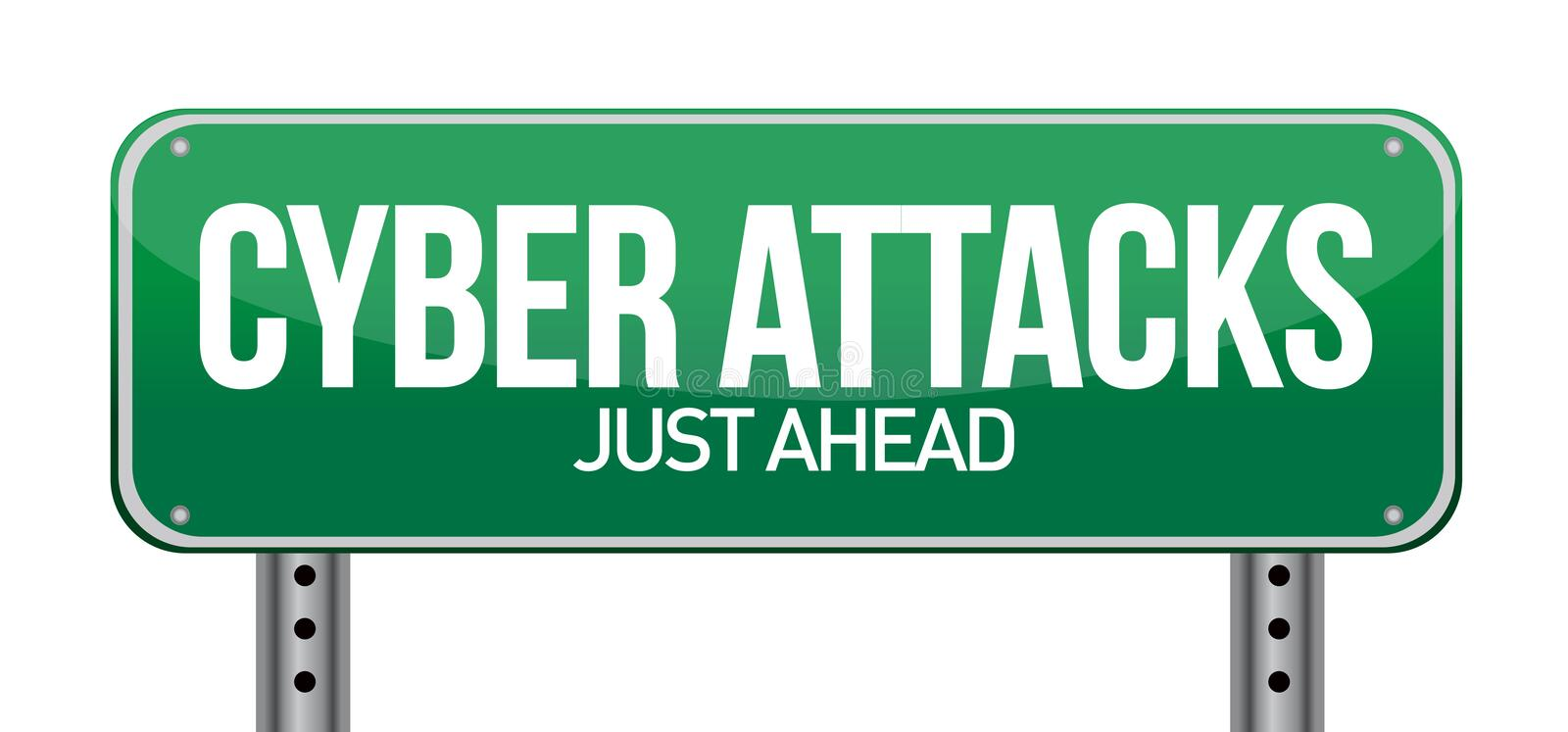 Cyber attacks as a technology concept royalty free illustration