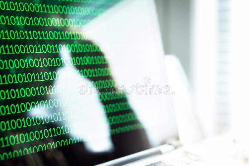 Cyber bullying, online fraud or computer virus concept. royalty free stock photo
