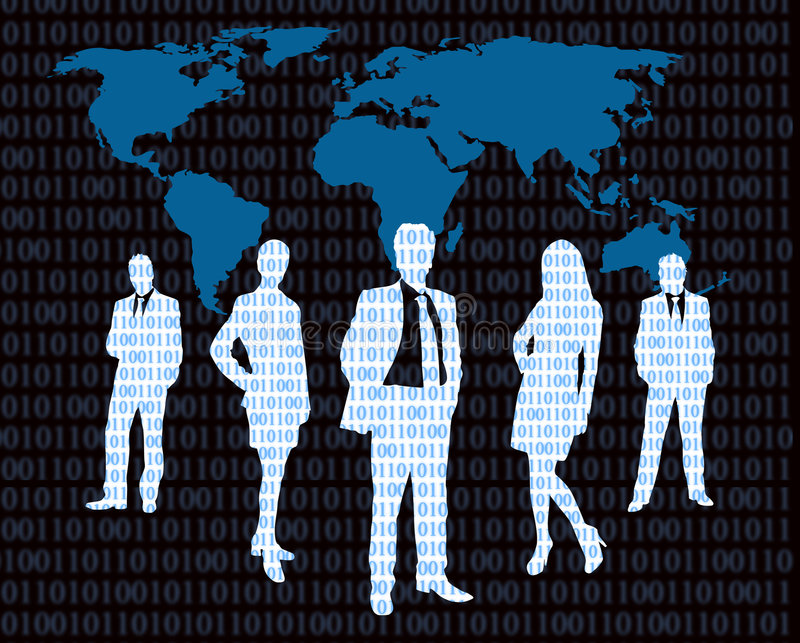 Cyber business stock illustration