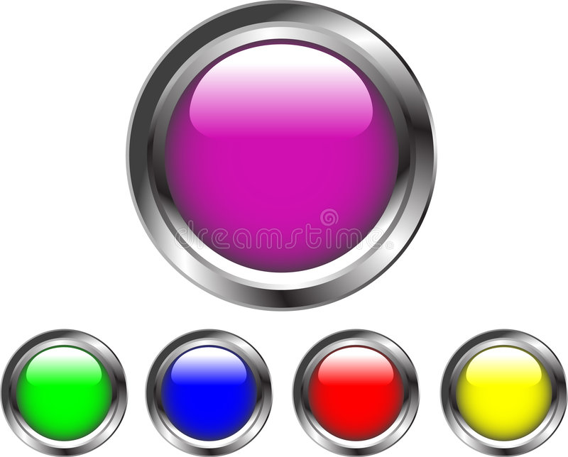 Cyber buttons royalty free illustration