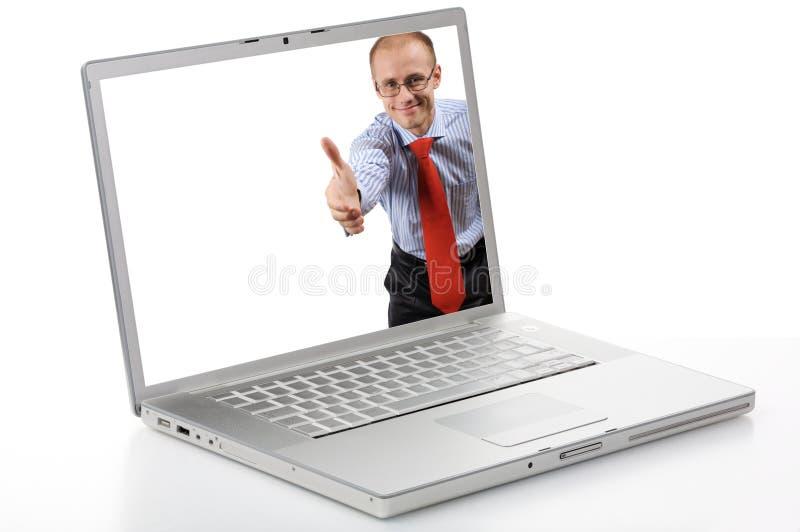 Cyber ciao fotografie stock libere da diritti