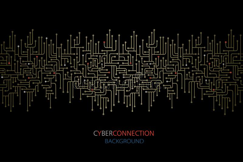 Cyber connection electronic circuit background. Spu. Circuit lines design. royalty free illustration