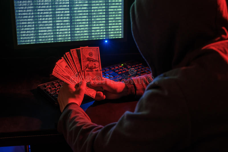 Cyber crime in internet stock photos