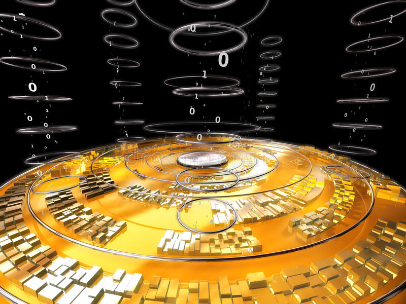 Cyber Data disk royalty free illustration