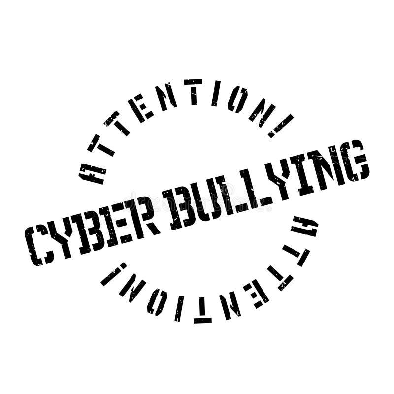 Cyber die rubberzegel intimideren royalty-vrije illustratie
