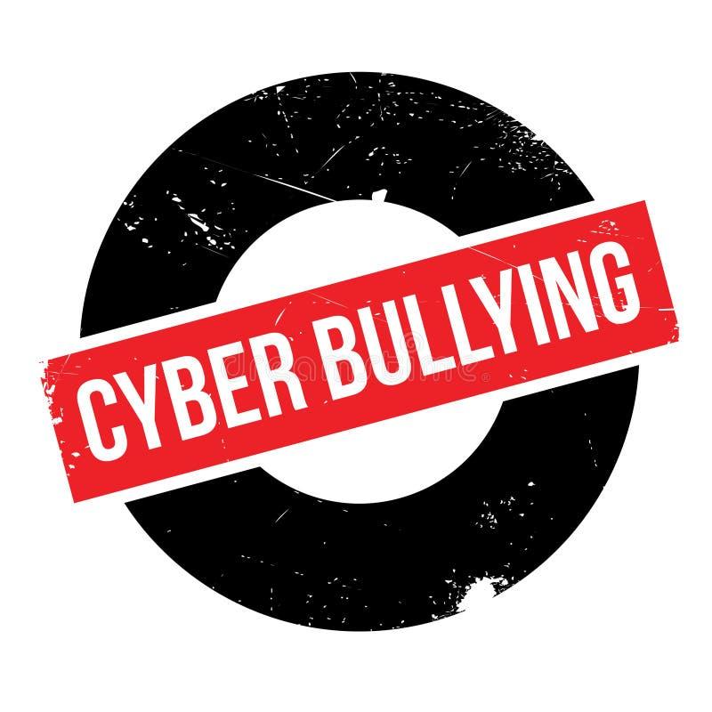 Cyber die rubberzegel intimideren stock illustratie