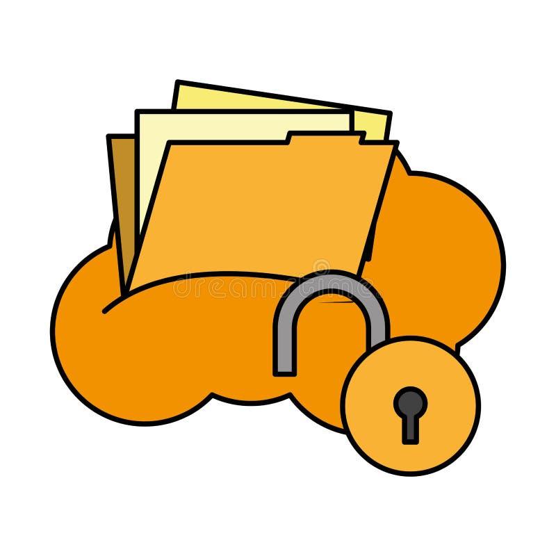 cyber digitale veiligheid vector illustratie