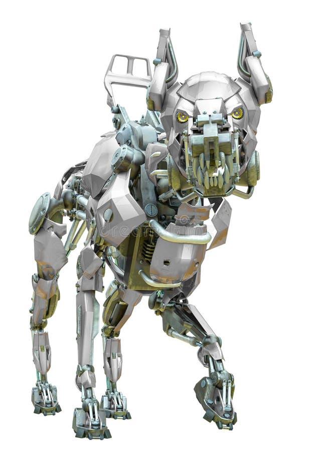 Cyber dog chodzący royalty ilustracja