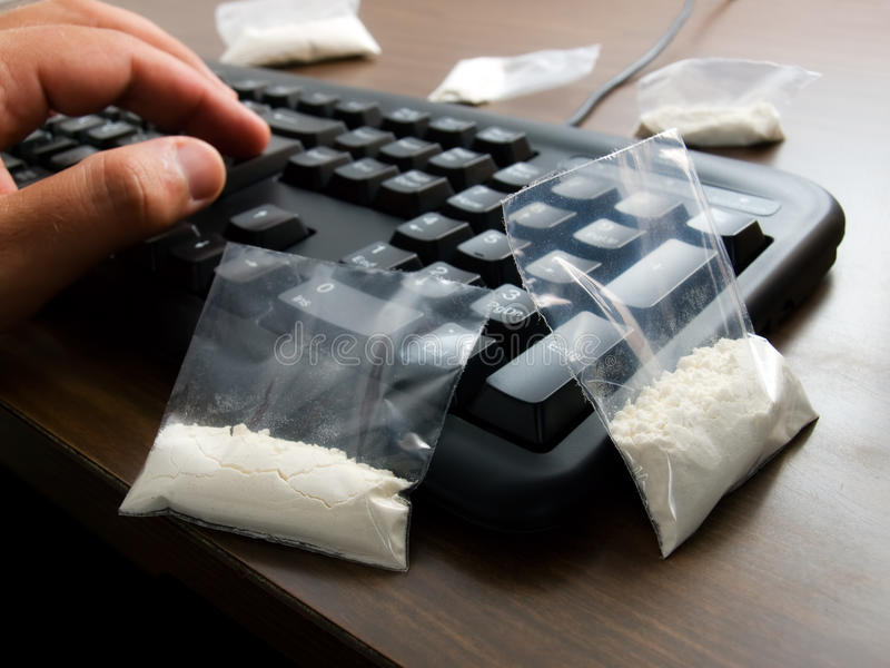 Cyber Drug Dealer Stock Photos