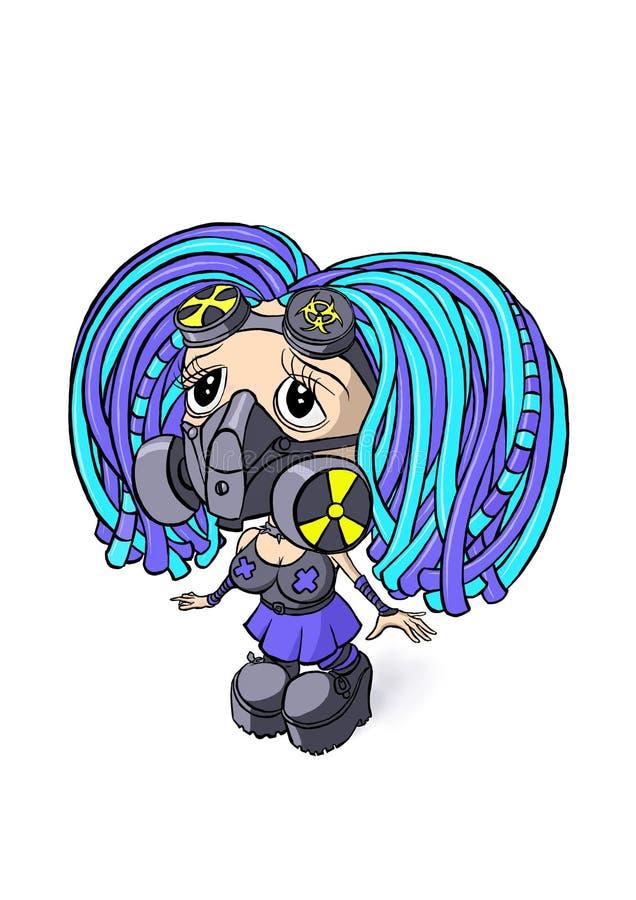 cyber dziewczyna ilustracja wektor