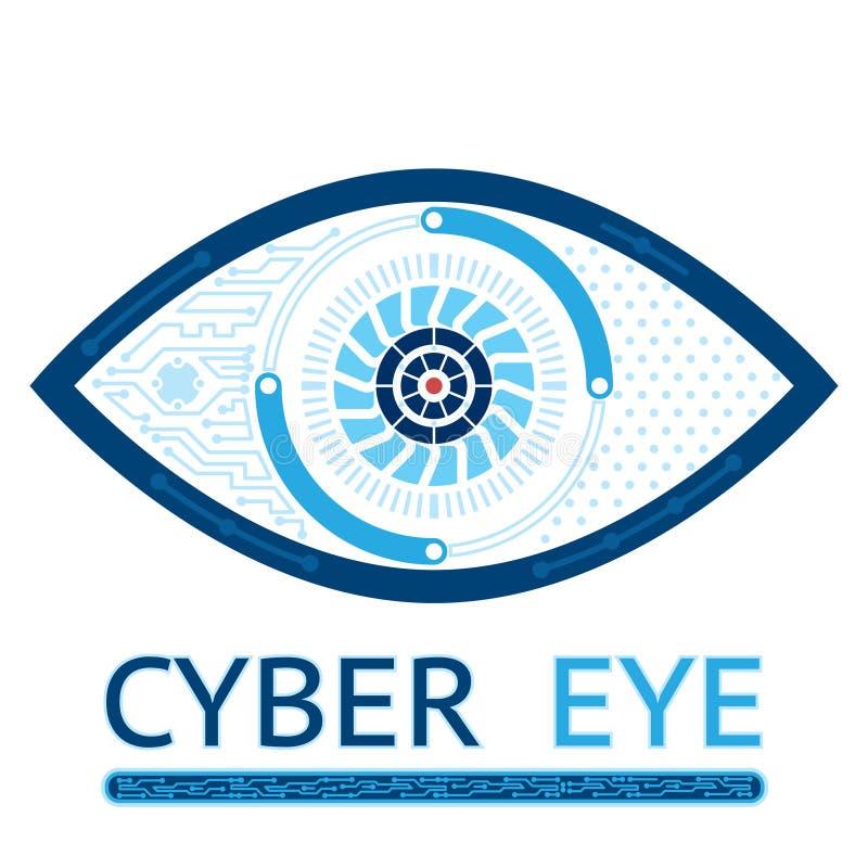 Cyber eye icon stock illustration