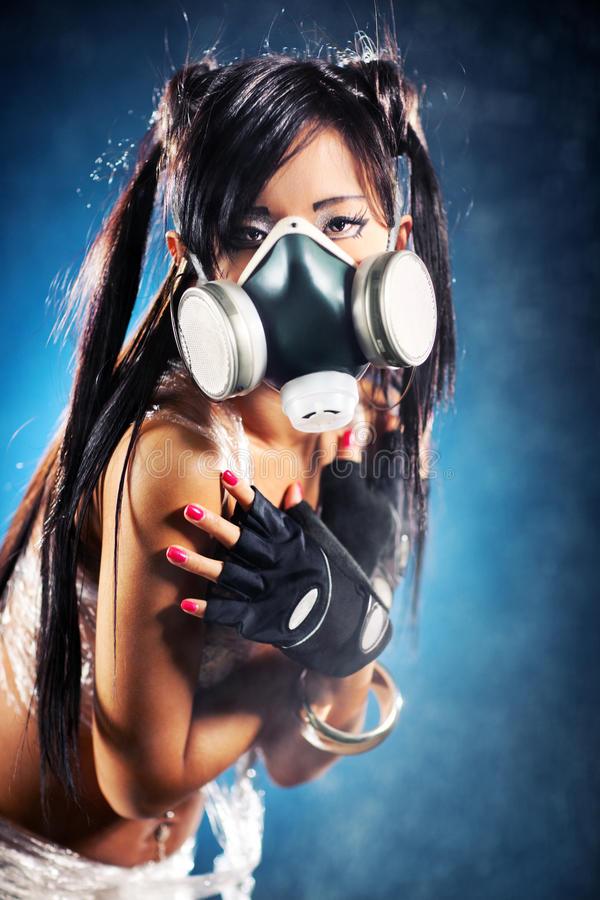 Download Cyber girl stock image. Image of model, japan, mask, cyborg - 12760085