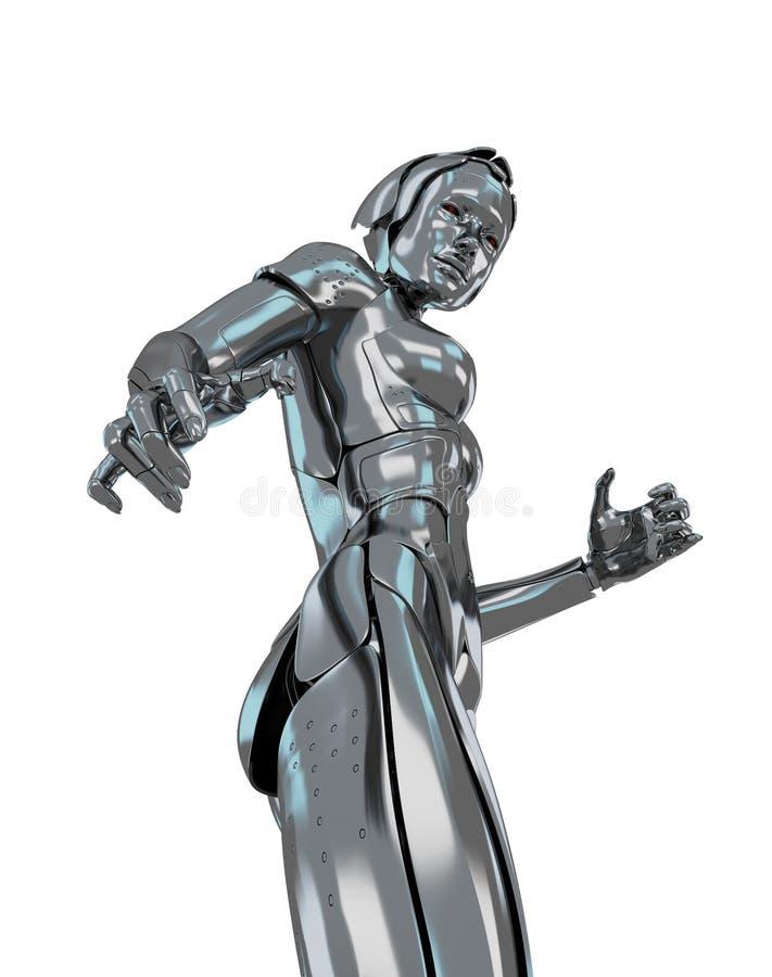 Cyber girl vector illustration