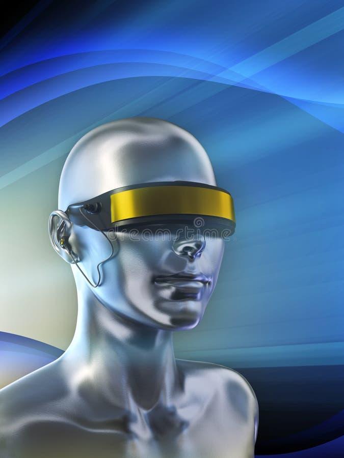 Cyber glasses royalty free illustration