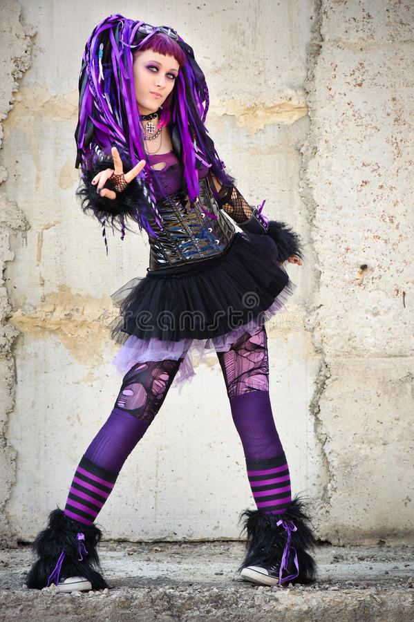 Download Cyber gothic girl stock photo. Image of fashion, crazy - 11126336